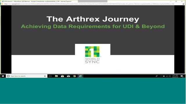 "Innovit & 1WorldSync: ""The Arthrex Journey"" Achieving Data Requirements for UDI"