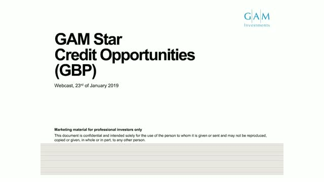 GAM Star Credit Opportunities GBP fund update
