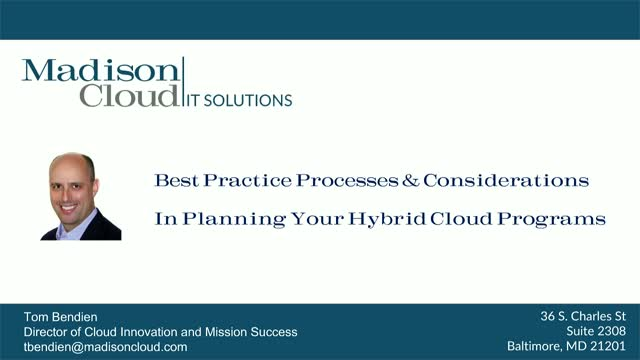 Best Practices & Considerations for Planning your Hybrid Cloud Journey