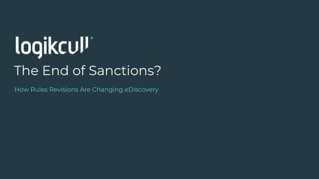 The End of Sanctions?