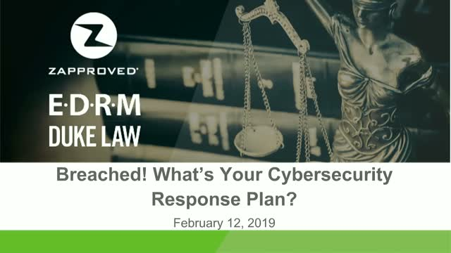 Breached! What's Your Cybersecurity Response Plan?