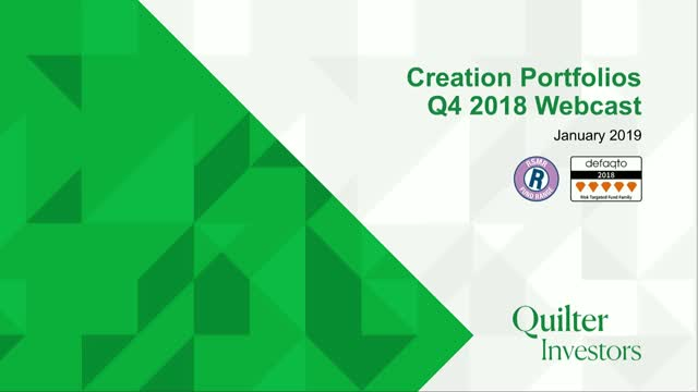 Q4 2018 Quilter Investors Creation Portfolios Update