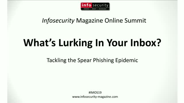 #IMOS19 - Keynote: What's Lurking in Your Inbox?