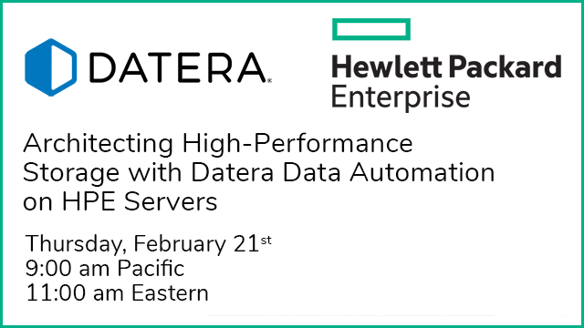 Architecting High-Performance Storage with Datera Data Automation on HPE Servers