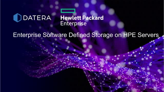 Enterprise Software-Defined Storage on HPE Gen10 Servers