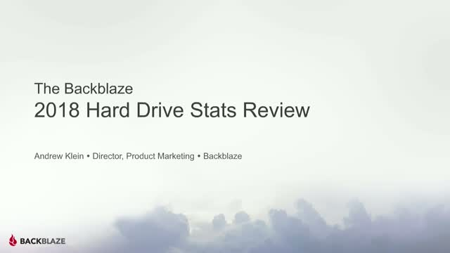 Backblaze Hard Drive Stats for 2018
