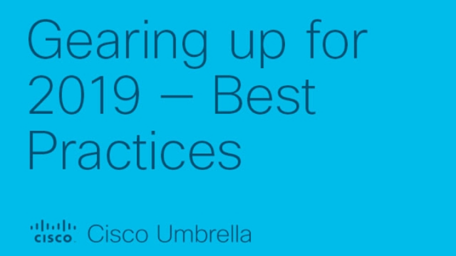 Gearing up for 2019 — Best Practices to Consider