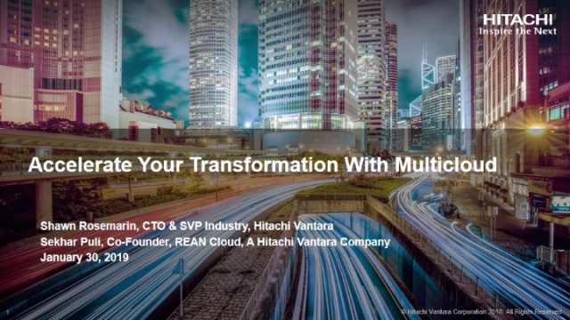 Accelerate Your Transformation With Multicloud