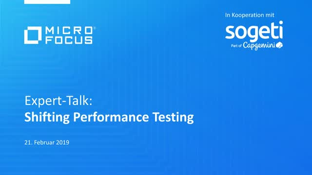 Expert Talk: Shifting Performance Testing