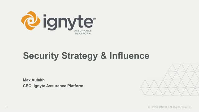 Security Strategy & Influence
