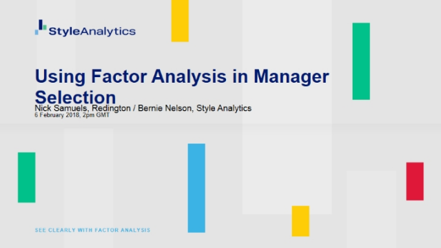 Using factor analysis in manager selection