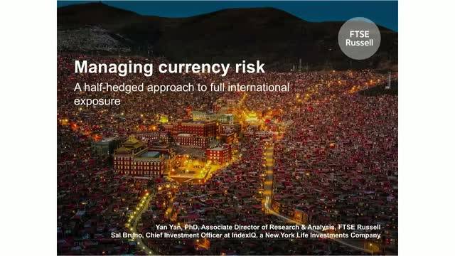 Managing currency risk: A half hedged approach to full international exposure