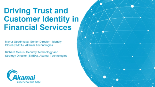 Driving Trust and Customer Identity in Financial Services