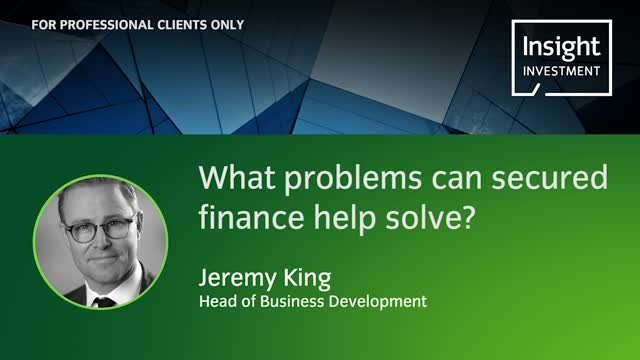 What problems can secured finance help solve?