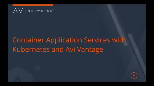 Container Application Services with Kubernetes