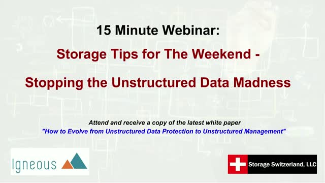 Fifteen Minute Friday: Tips for The Weekend - Stop the Unstructured Data Madness