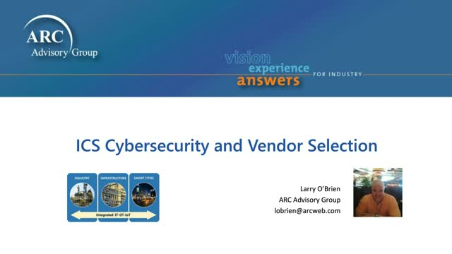 Approaching Cyber Security Vendor Selection  in OT Environments