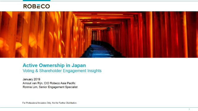 Robeco | Active Ownership in Japan