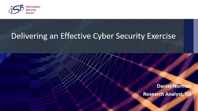 Delivering an Effective Cyber Security Exercise