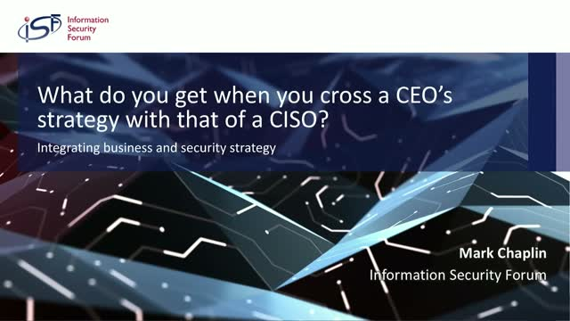 What do you get when you cross a CEO and a CISO's strategy