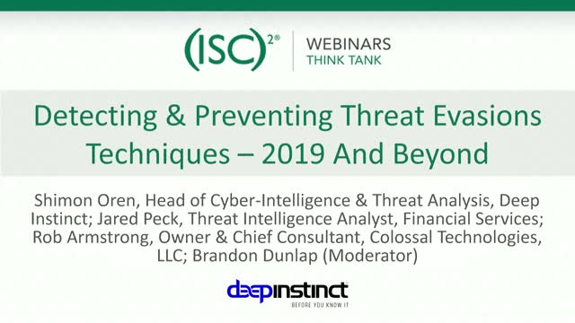 Detecting & Preventing Threat Evasions Techniques – 2019 And Beyond