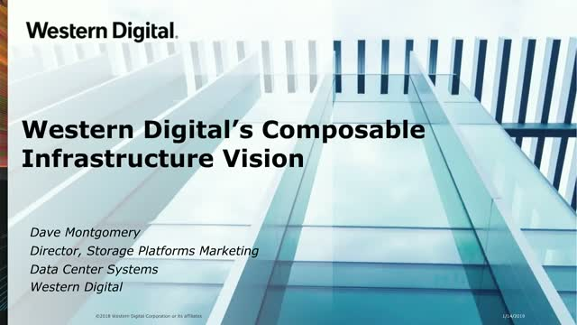 Western Digital's Composable Infrastructure Vision