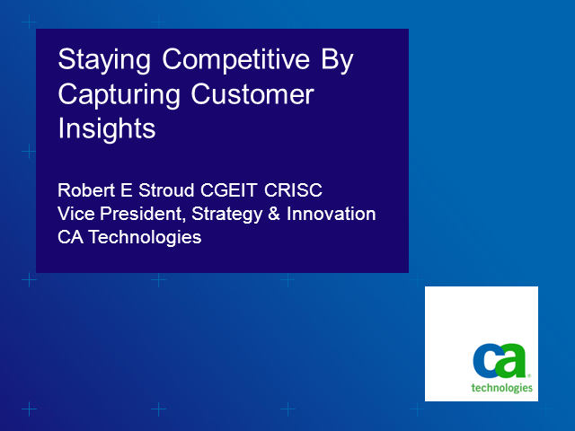 Stay Competitive - Crowdsource ideas to improve business value and innovation