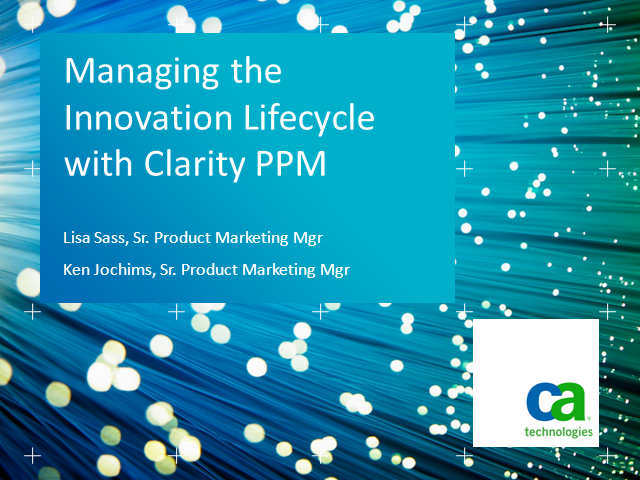 Advantages of managing the innovation lifecycle as an integrated process offer