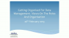 Getting Organised For Data Management - Views On The Roles And Organisation