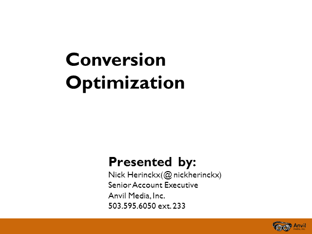 Conversion Optimization: Increasing revenue through usability