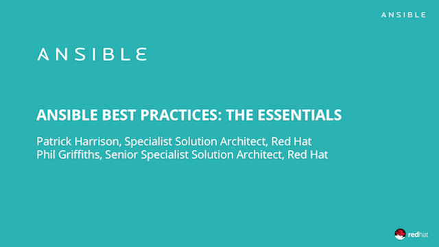 Ansible Best Practice - The Essentials