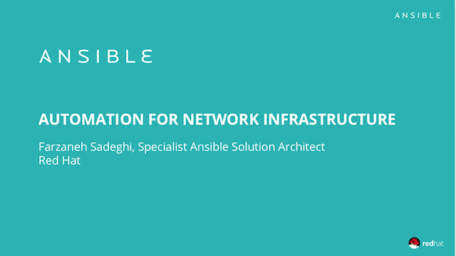 Automation for Network Infrastructure