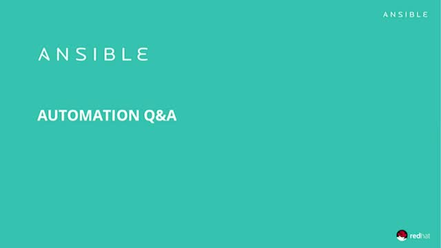 Q&A Session with Ansible Experts