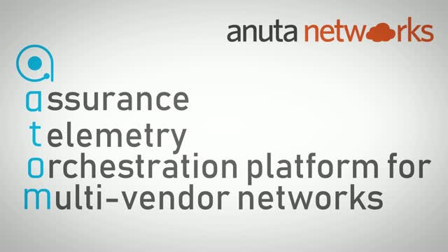 Anuta ATOM: Assurance, Telemetry, Orchestration for Multi-Vendor Networks