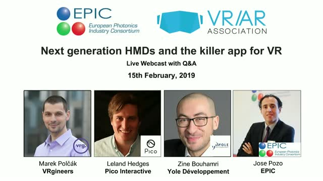 Next generation HMDs and the killer app for VR