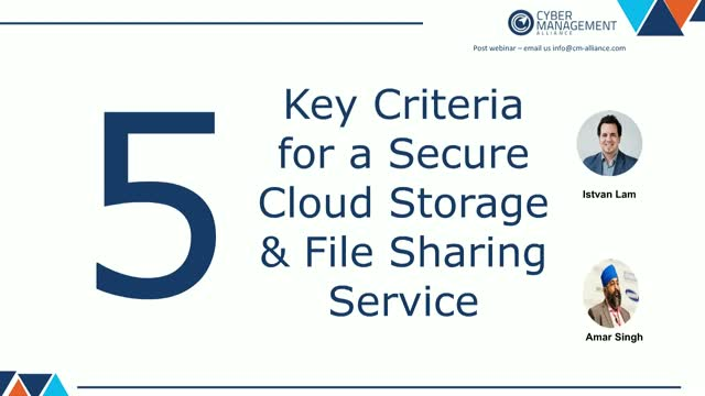 5 Key Criteria for a Secure Cloud Storage & File Sharing Service