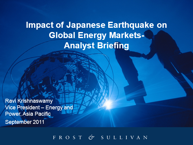 Impact of Japan Earthquake on Global Energy Markets