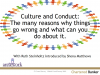 Culture and Conduct