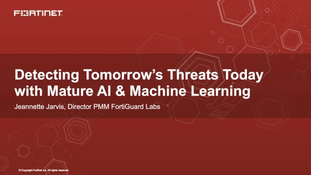 Detecting Tomorrow's Threats Today with Mature AI & Machine Learning