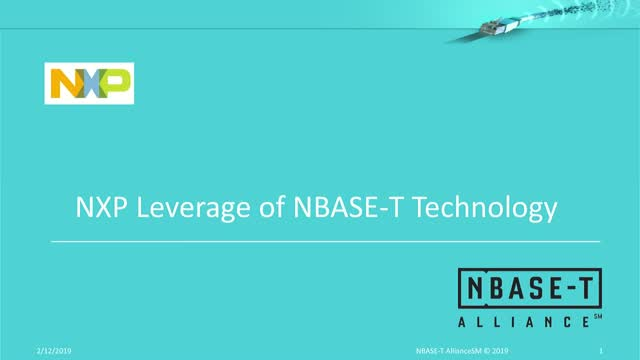 NXP Leverage of NBASE-T Technology