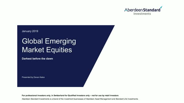 Global Emerging Market Equities Q4 2018 Update