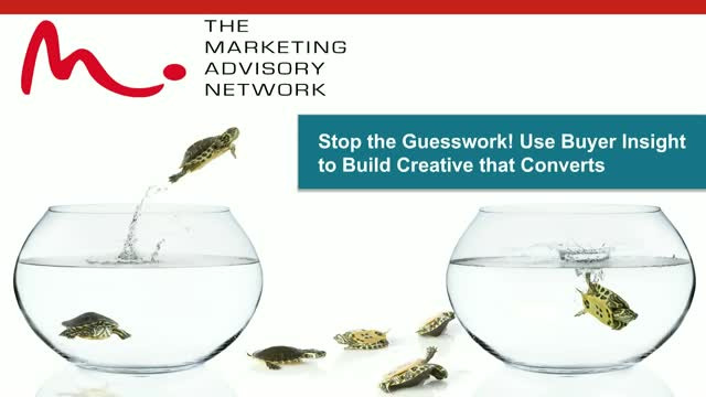 Stop the Guesswork! Use Buyer Insights to Fuel Creative Campaigns that Convert