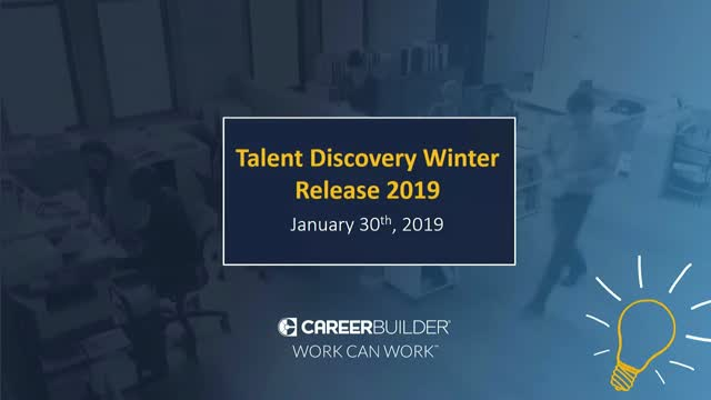 CareerBuilder Talent Discovery Platform Winter Release Updates