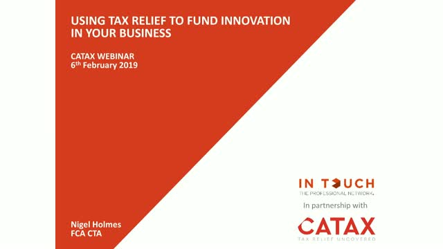 Using tax relief to fund innovation in your business