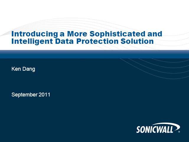 Introducing a More Sophisticated and Intelligent Data Protection Strategy
