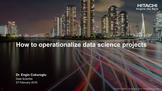 How To Operationalize Data Science Projects