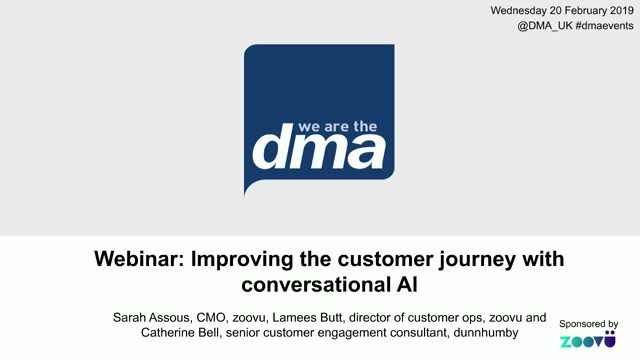 Webinar: Improving the customer journey with conversational AI