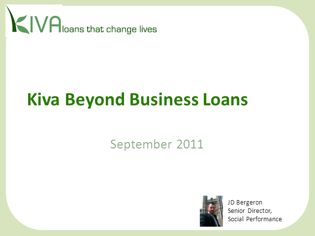 Beyond Funding Business Loans: What Kiva is Doing