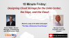 15 Minute Friday: Design Cloud Storage for the Data Center, the Edge, and Cloud