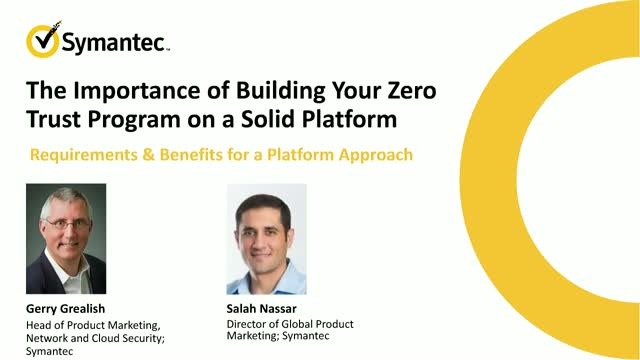 The Importance of Building Your Zero Trust Program on a Solid Platform